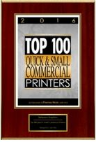 top 100 small commercial printers plaque